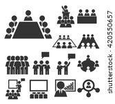 board  committee icon set | Shutterstock .eps vector #420550657