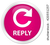 reply  rotate arrow icon  pink... | Shutterstock . vector #420551257
