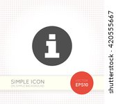 flat information symbol. info... | Shutterstock .eps vector #420555667