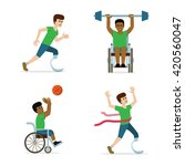 disabled and handicapped... | Shutterstock .eps vector #420560047