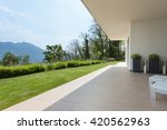 exterior of a new house ... | Shutterstock . vector #420562963