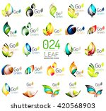 set of colorful geometric... | Shutterstock .eps vector #420568903