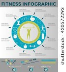 fitness and wellness... | Shutterstock .eps vector #420572293
