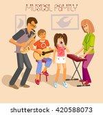 illustration of happy familly... | Shutterstock . vector #420588073