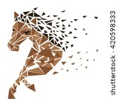 Horse Particles Icon Design....