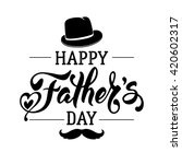fathers day lettering... | Shutterstock .eps vector #420602317