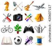 hobby icons detailed photo... | Shutterstock .eps vector #420607117