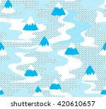 seamless mountain pattern with... | Shutterstock .eps vector #420610657