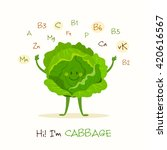 illustration with funny... | Shutterstock .eps vector #420616567