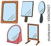 vector set of mirror | Shutterstock .eps vector #420625027