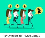 business people whisper some... | Shutterstock .eps vector #420628813