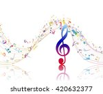 musical background with clef... | Shutterstock .eps vector #420632377