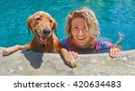 funny portrait of smiling woman ...   Shutterstock . vector #420634483