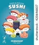 vintage sushi poster design...   Shutterstock .eps vector #420646837
