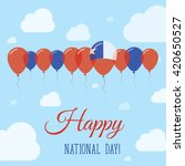 chile national day flat... | Shutterstock .eps vector #420650527