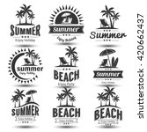 summer holidays design elements ... | Shutterstock .eps vector #420662437