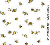 bee seamless pattern. honey...