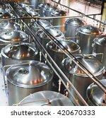 stainless tanks for the... | Shutterstock . vector #420670333