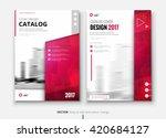 catalog design. corporate... | Shutterstock .eps vector #420684127