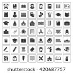school icons set | Shutterstock .eps vector #420687757