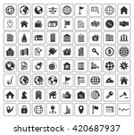 real estate icons set | Shutterstock .eps vector #420687937