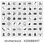 communication icons set | Shutterstock .eps vector #420688447
