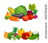fresh healthy vegetables... | Shutterstock .eps vector #420705643
