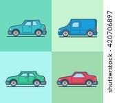 motor passenger car van...   Shutterstock .eps vector #420706897