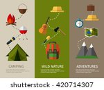 camping banners collection.... | Shutterstock .eps vector #420714307