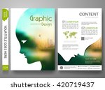 flyers design template vector.... | Shutterstock .eps vector #420719437