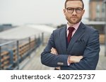 stylish serious handsome...   Shutterstock . vector #420725737