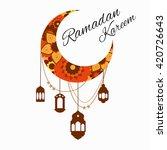 happy ramadan kareem  greeting... | Shutterstock .eps vector #420726643