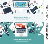 photography equipment with...   Shutterstock .eps vector #420742453