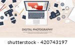 photography equipment with... | Shutterstock .eps vector #420743197