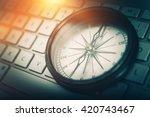 the internet navigator concept...   Shutterstock . vector #420743467