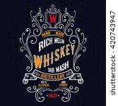 vintage american whiskey label... | Shutterstock .eps vector #420743947