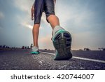 jogging on the road | Shutterstock . vector #420744007