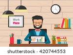 concept freelancer at work... | Shutterstock .eps vector #420744553