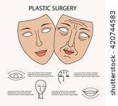 facial plastic surgery concept  ... | Shutterstock .eps vector #420744583
