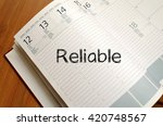 reliable text concept write on... | Shutterstock . vector #420748567