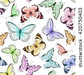 seamless vintage pattern with... | Shutterstock .eps vector #420750403
