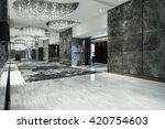 luxury lobby interior.with... | Shutterstock . vector #420754603