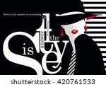 Fashion quote with fashion woman. Vector illustration | Shutterstock vector #420761533