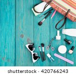 travel concept   summer women... | Shutterstock . vector #420766243