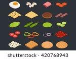 vector set of isometric icons....   Shutterstock .eps vector #420768943