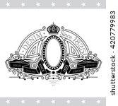 oval frame on the winding... | Shutterstock .eps vector #420779983