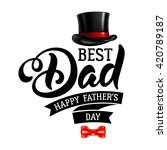 fathers day lettering... | Shutterstock .eps vector #420789187