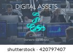digital assets finance money... | Shutterstock . vector #420797407