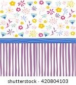 seamless pattern  floral...   Shutterstock .eps vector #420804103
