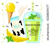 recipe of milkshake  smoothie... | Shutterstock .eps vector #420805477